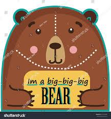 bear template bear text box bear stock vector 437377402 shutterstock