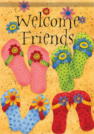 Decorative Garden Flags Design Ideas Astounding Welcome Friends Seasonal And Flip Flop