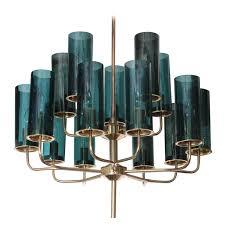 New Chandeliers by Brass U0026 Blue Glass Tube Chandelier By Hans Agne Jakobsson Glass