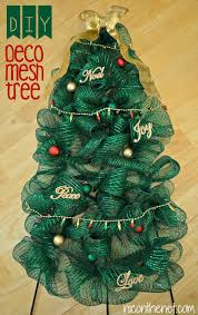 decorated with mesh ribbon to decorate a tree tutorial parade of