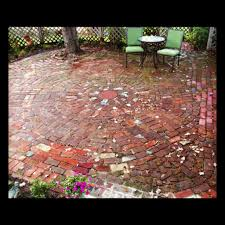 Circular Patios by Best Images About Brick Ideas On Circular Brick Patio In