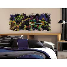 Ninja Turtle Bedroom Furniture by Teenage Mutant Ninja Turtles Mike Peel And Stick Giant Wall Decals