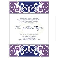 Reception Cards Purple U0026 Blue Reception Card Templates Jordana Plum Do It