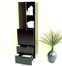 bathroom linen cabinet with glass doors bathroom brilliant bamboo bathroom corne tower inspired linen for