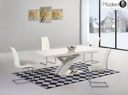 High Gloss Extending Dining Table Modern White High Gloss Extending Dining Table And Chairs White