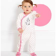 le top miss kitty footie for baby girls