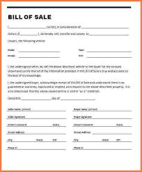 6 car bill of sale sample simple cash bill
