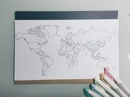 World Map To Color by Ways To Fill Empty Notebooks 2 Studying Amino Amino