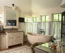 freestanding mirror and jewelry cabinet bathroom contemporary with