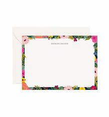 personalized stationary juliet personalized stationery by rifle paper co made in usa