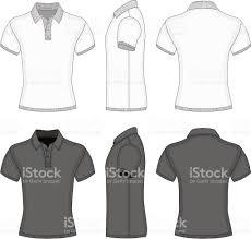 mens polo shirt and tshirt design templates stock vector art