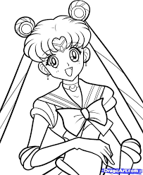 how to draw sailor moon sailor moon step by step anime