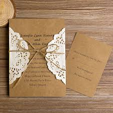 vintage wedding invitations vintage rustic lace pocket wedding invitations ewls002 as low as