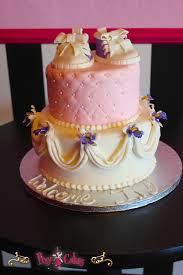 baby shower cake booties cake drapes drapings purple pink