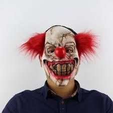 halloween scary horror mask halloween ghost face clown latex mask