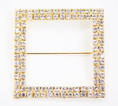 chair sash buckles square diamond rhinestone metal pin sash buckle gold cv linens