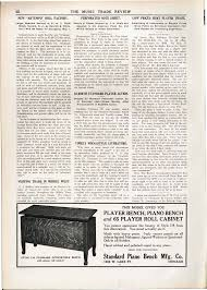player piano roll cabinet standard piano bench mfg co