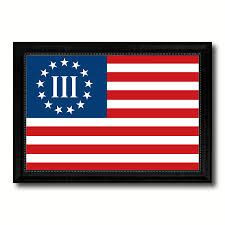 Bonnie Flag 3 Percent Betsy Ross Nyberg Battle Iii Revolutionary War Military