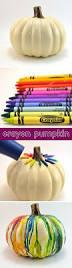 diy fall halloween melted crayon pumpkin mom spark mom blogger