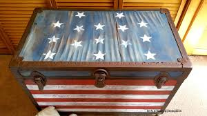 How To Paint American Flag Painted Flag Trunk Guest Post U2013 Country Chic Paint Blog About