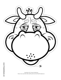 printable bull mask printable bull mask to color mask