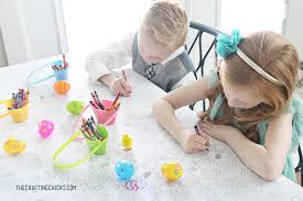 printable easter coloring tablecloth crafting