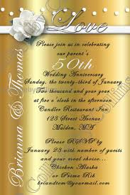 Golden Wedding Invitation Cards 50th Anniversary Invitation Templates Contegri Com