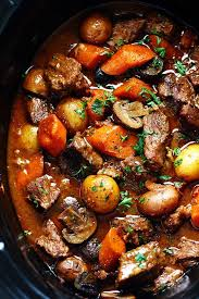 Healthy Steak Dinner Ideas Slow Cooker Beef Bourguignon Recipe Barley Soup Pots And Slow
