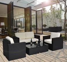 Sectional Patio Furniture Sets Affordable Variety Outdoor 4 Pc Rattan Wicker Sofa Sectional Patio