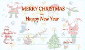 merry christmas gift voucher template template business