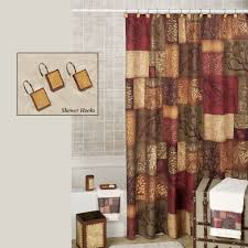styles 2014 burgundy shower curtain burgundy and brown bathroom