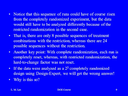 design expert 9 key l m lyedoe course1 design and analysis of multi factored