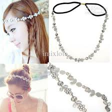 hair bands online women fashion metal rhinestone chain jewelry headband