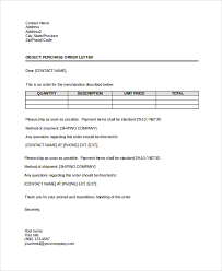 purchase letter format best template collection