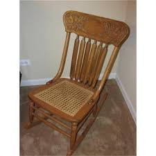 Cane Rocking Chair Antique Pressback Cane Seat Rocking Chair 1108332