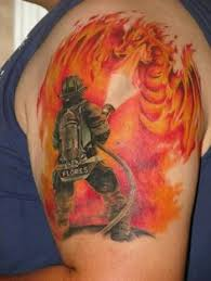 firefighter tattoo by david turrubiate of amazink tattoo