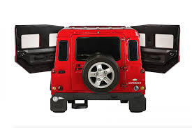 car jeep png land rover defender 12v licensed electric ride on jeep red
