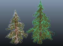 painted low poly pine trees polycount