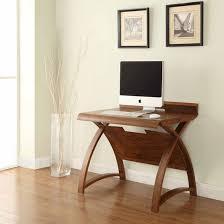 Small Computer Desk Juoly Walnut Finish Curve Shaped Small Computer Desk 22173
