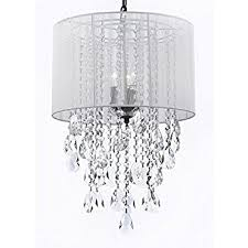 Chandeliers With Lamp Shades Crystal Chandelier Chandeliers With Large White Shade H15