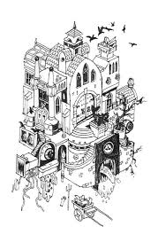 clever architectural drawings of houses that might just eat you