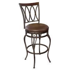shop bar stool shop allen roth hannah dark chagne bronze 30 in bar stool at