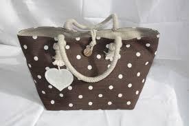 sac cabas en lin sac à main doublé lin pois