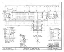 mission floor plans architectural drawing of floor plan from historic american
