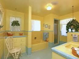 wall and ceiling yellow bathroom paint ideas yellow bathroom