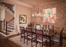 Bold And Inventive Dining Rooms With Brick Walls - Dining room accent wall
