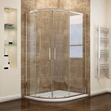 Easy Clean Shower Doors 900x760mm Offset Enclosure 8mm Easy Clean Nano Glass
