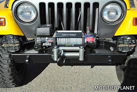 jeep front silhouette 2003 jeep wrangler tj x warn stubby front bumper with winch