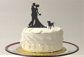 cake topper with dog made in usa with dog wedding cake topper silhouette wedding