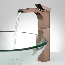 Vessel Sink Waterfall Faucet Broeg Waterfall Vessel Faucet Bathroom